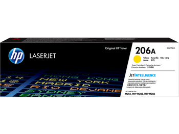 Product image for HP 206A Yellow Toner - Approx 1.25K Pages - For M283 - M255 Printers