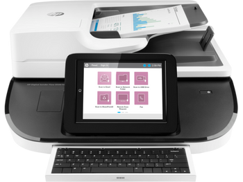 Product image for HP Digital Sender Flow 8500 Fn2 Scanner Workstation. A3 Size - Adf - Keyboard