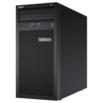 Lenovo ThinkSystem ST50 (1/1x Xeon E-2144G 4C/8T 3.6GHz, 1/4x 8GB, 4/4x LFF NHS, DVD-RW, Onboard SW RAID, 1x 1GbE, IAMT , 1/1x 250W, 1 Yr Ltd Wty) Main Product Image