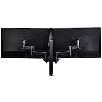 Atdec AWMS-2-4640 400mm Post Dual Monitor Mount Grommet - Black Main Product Image