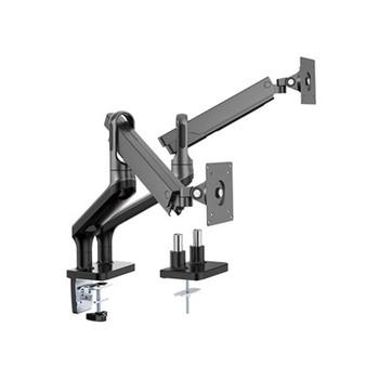 Brateck Dual Premium Aluminium Spring-Assisted Monitor Mount - 17in- 32in - Black Main Product Image