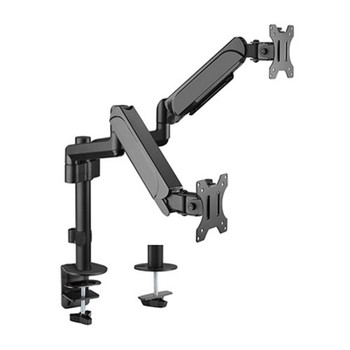 Brateck Pole-Mounted Gas Spring 17in-32in Dual Monitor Stand Main Product Image