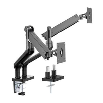 Brateck Premium Aluminium 17in-32in Dual Monitor Stand - Black Main Product Image