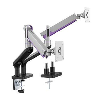 Brateck Premium Aluminium 17in-32in Dual Monitor Stand - Silver Main Product Image