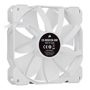 Corsair iCUE SP120 RGB ELITE White 120mm PWM Fan - 3 Pack + Lighting Node CORE Product Image 2