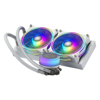 Cooler Master MasterLiquid ML240 Illusion ARGB AIO Liquid CPU Cooler - White Main Product Image
