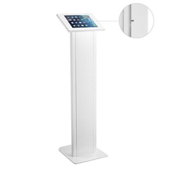 Brateck Anti-Theft Freestanding Tablet Kiosk - White Product Image 2