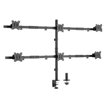 Brateck Pole Mounted Six-Screen Monitor Mount 17in-32in Main Product Image