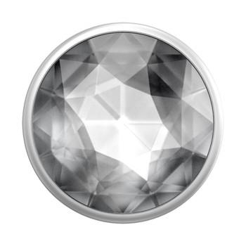 Popsockets PopGrip (Gen2) - Disco Crystal Silver - Silver Main Product Image