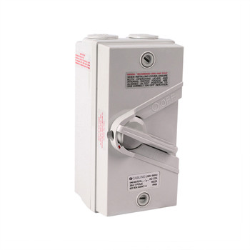4Cabling Weatherproof Isolator 1 Pole IP66 250V  35A Main Product Image