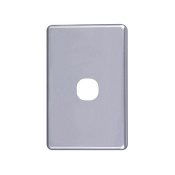 4Cabling Classic 1 Gang Switch Cover  - Silver Main Product Image