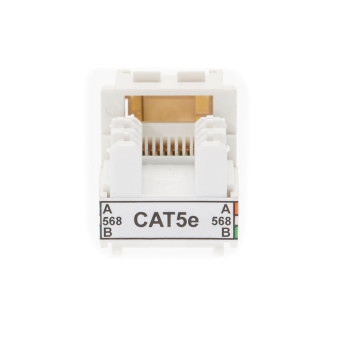 4Cabling Cat 5E Keystone RJ45 Jack for 110 Face Plate Pack of 10 Main Product Image