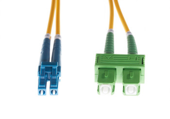 4Cabling 3m LC-SC/APC OS1 / OS2 Singlemode Fibre Optic Duplex Patch Lead - 2mm Oversleeving Yellow Main Product Image