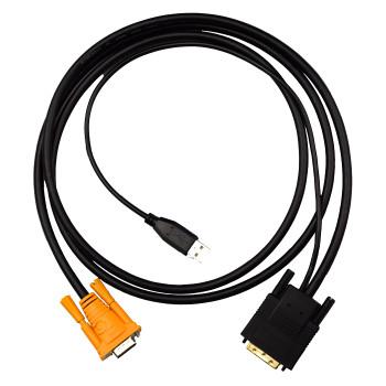 4Cabling 1.8M KVM VGA-DVI Convert Digital Signal Cable for VGA KVMs Main Product Image