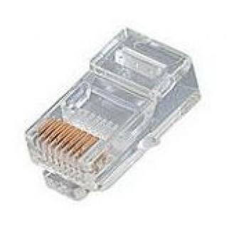 4Cabling 8 Position Stranded  RJ45 Cat 5E Crimp Plug 100 Pack Main Product Image