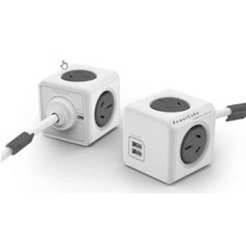 4Cabling PowerCube 4 Power Outlet and 2 USB Ports 1.5m. Grey Main Product Image