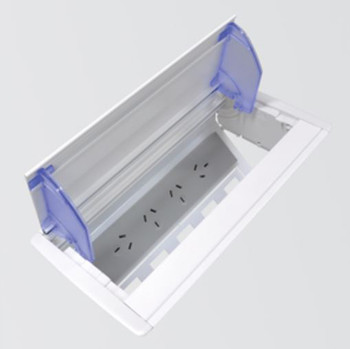 OE Elsafe Axxess QF45 - 4 x GPO, 5 x Data Cutouts - Anodised Lid- Grey/Silver Main Product Image