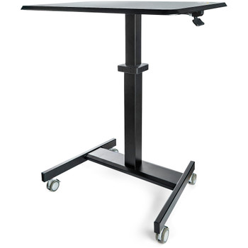 StarTech Mobile Standing Desk - Portable Sit Stand Ergonomic Height Adjustable Cart on Wheels Main Product Image