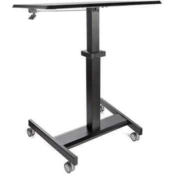 StarTech Mobile Standing Desk - Portable Sit Stand Ergonomic Height Adjustable Cart on Wheels Product Image 2