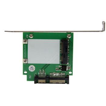 StarTech SATA to mSATA SSD Adapter w/ Full and Low Profile Brackets  SATA to Mini SATA Converter Card Product Image 2