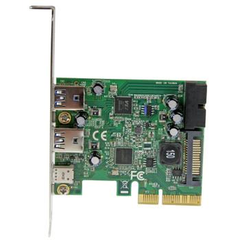 StarTech 5-Port USB 3.1 PCIe Card - 1x USB-C (10Gbps) - 2x USB-A (5Gbps) + 1x 2-Port IDC (5Gbps) Product Image 2