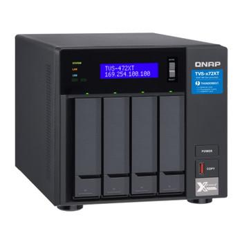 QNAP TVS-472XT-I3-4G 4 Bay Diskless NAS Core i3-8100T 4 Core 3.1GHz 4GB Product Image 2