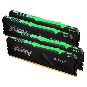 Kingston FURY Beast RGB 128GB (4x 32GB) DDR4 3200MHz Memory Main Product Image