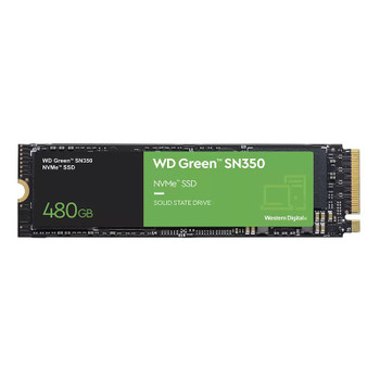 Western Digital WD Green SN350 480GB M.2 2280 NVMe SSD WDS480G2G0C Main Product Image