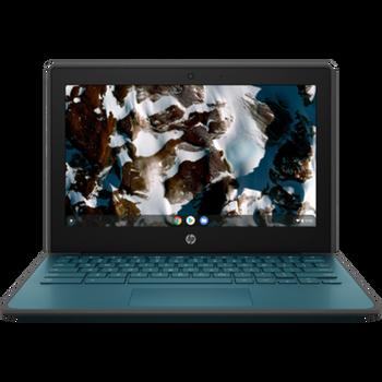 Product image for HP ChromeBook 11 G9 EE Cel N5100 8GB Chrome  64Gemmc  11.6 Hd Ts Nautical Teal