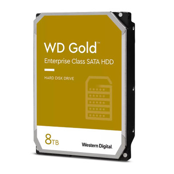 Western Digital WD WD8004FRYZ 8TB Gold 3.5in SATA 6Gb/s 512e Enterprise Hard Drive Main Product Image