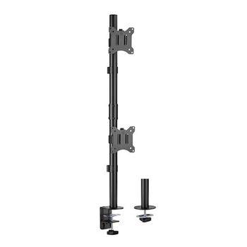 Brateck Vertical Pole Mounted Dual Screen Monitor Mount - 17in - 32in Main Product Image