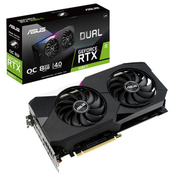 Asus Dual GeForce RTX 3060 Ti V2 OC Edition 8GB Video Card Main Product Image