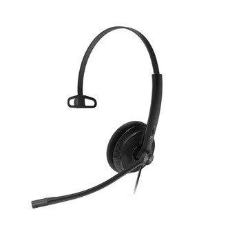 Yealink YHS34 Lite Mono Wideband Noise-Canceling Headset, Monaural Ear, RJ9, QD Cord, Foamy Ear Cushion, Hearing Protection Main Product Image