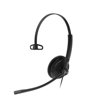 Yealink YHS34 Mono Wideband Noise-Canceling Headset, Monaural Ear, RJ9, QD Cord, Leather Ear Piece, Hearing Protection Main Product Image