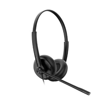 Yealink YHS34 Dual Wideband Noise-Canceling Headset, Binaural Ear, RJ9, QD Cord, Leather Ear Piece, Hearing Protection Main Product Image