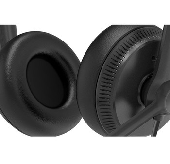 Yealink YHS34 Dual Wideband Noise-Canceling Headset, Binaural Ear, RJ9, QD Cord, Leather Ear Piece, Hearing Protection Product Image 2