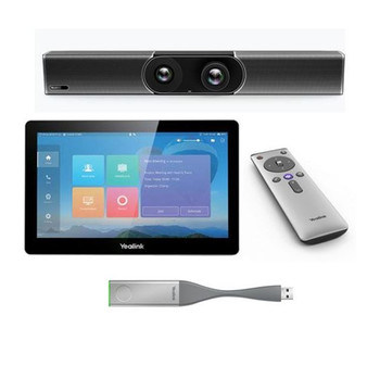 Yealink Smart 4K Room System, including MeetingEye 600 Codec, CTP20 touch panel, 1x WPP20, VCR20 remote control, power adapter and cables Main Product Image