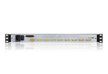 Aten Rackmount KVM Switch Dual Rail 8 Port VGA PS/2-USB w/ 19in LCD Display, 2x Custom KVM Cables Included, 1280x1024@75hz Display, LED Illumination Product Image 2