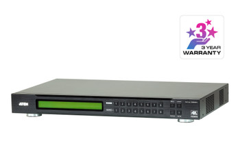 Aten 8x8 4K HDMI Matrix, control via front-panel pushbuttons, IR remote and RS232 control, EDID management Main Product Image