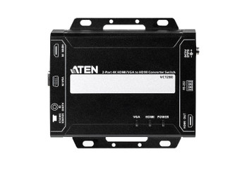 Aten Professional Converter Switch 2 Port 4K HDMI/VGA to HDMI Converter Switch, supports control via RS232 terminal or auto to new source Main Product Image