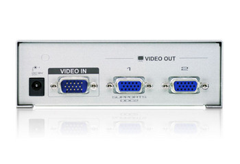 Aten Video Splitter 2 Port VGA Splitter 350Mhz, 1920x1440@60Hz, Cascadable to 3 levels (Up to 8 Outputs) Product Image 2