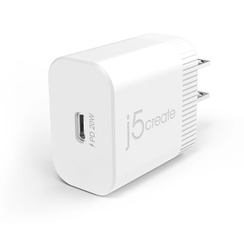 j5Create 20W PD USB-C Wall Charger Main Product Image