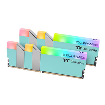 Thermaltake TOUGHRAM RGB 16GB (2x 8GB) DDR4 3600MHz Memory - Turquoise Main Product Image