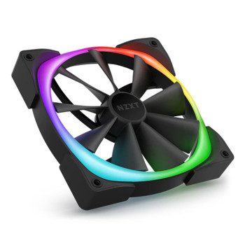 NZXT Aer RGB 2 140mm PWM Case Fan with R&F Controller - Black - 2 Pack Product Image 2
