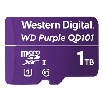 Western Digital WD Purple SC QD101 1TB microSDXC U1 Class 10 Memory Card Main Product Image