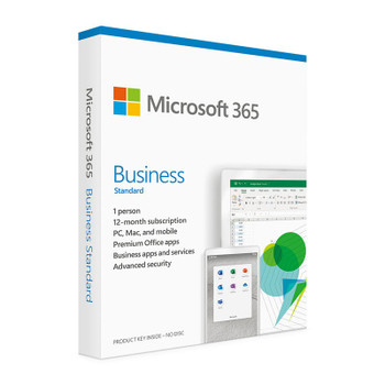 Microsoft 365 2021 Business Standard 1 Year Licence - Medialess Retail Main Product Image