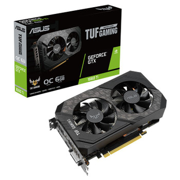 Asus GeForce GTX 1660 Ti TUF EVO Gaming OC 6GB Video Card Main Product Image