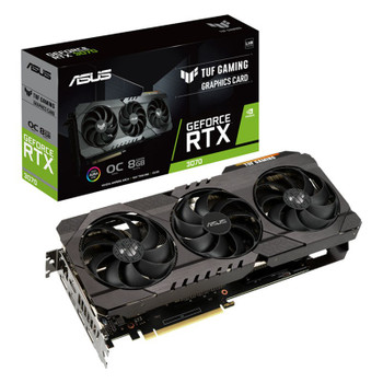 Asus TUF GeForce RTX 3070 V2 OC 8GB Video Card Main Product Image