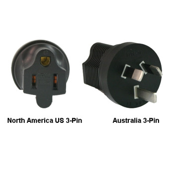 Product image for North America US 3-pin to Australia Power Adapter Plug | AusPCMarket Australia
