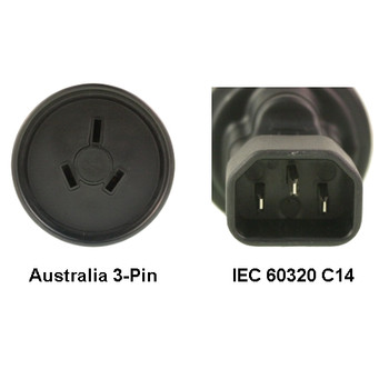 Product image for AU to IEC 60320 C14 Power Plug Adapter | AusPCMarket Australia